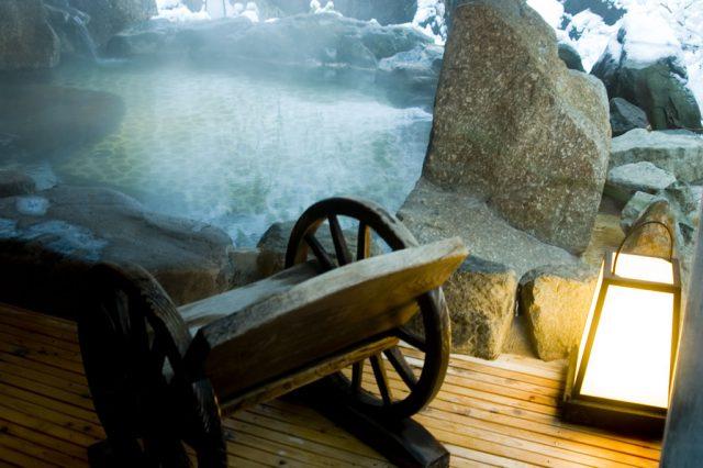 露天風呂の風景