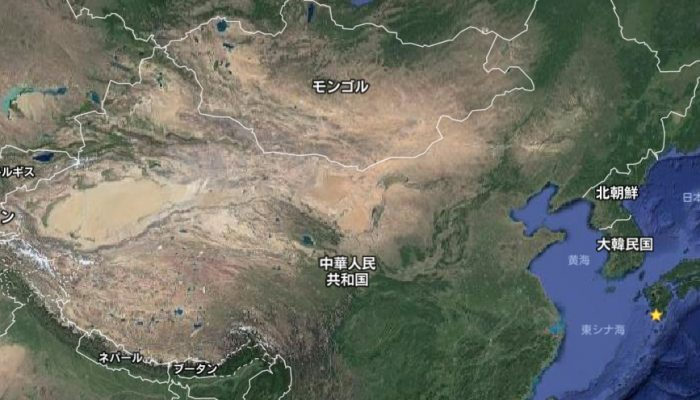中国北京の砂漠化