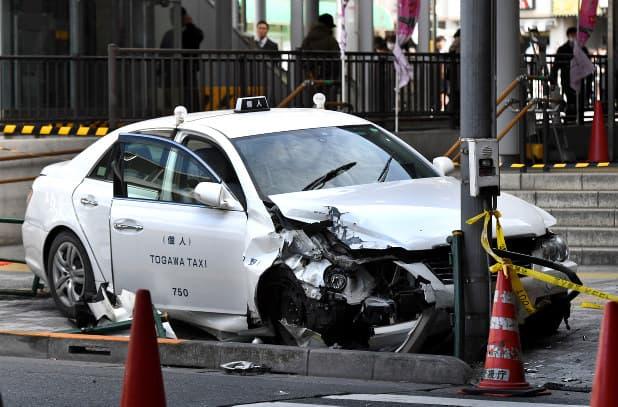 個人タクシーの事故