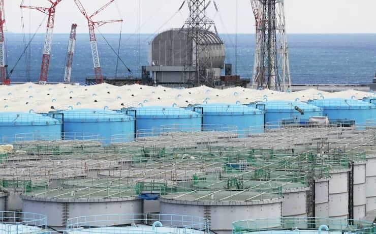 福島第1原発の処理水タンク