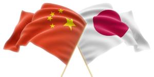日中の国旗