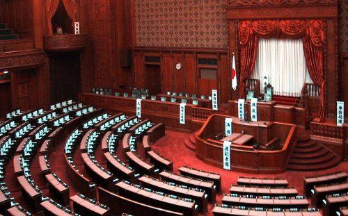 日本の最高機関である国会の衆議院本会議場