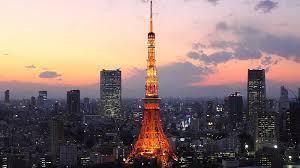 夕暮れの東京の景色