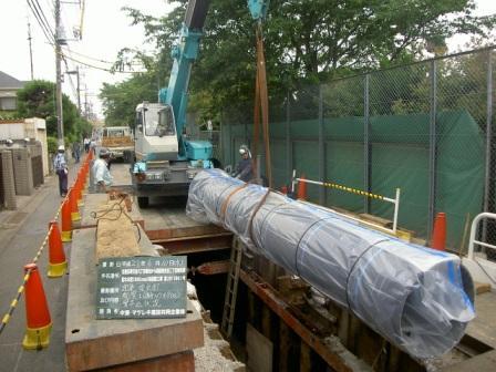 水道管の更新工事