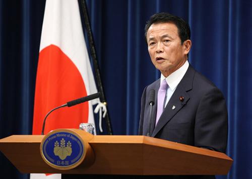 総理大臣時代の麻生太郎
