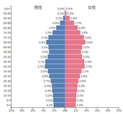 日本2017人口ピラミッド