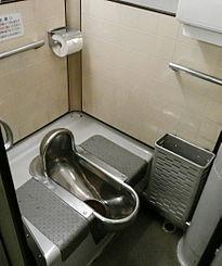 昭和時代の電車のトイレ