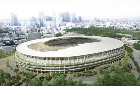 新国立競技場の完成写真