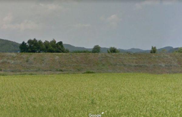 巨額の予算で建設した阿武隈川の堤防