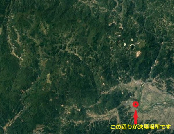 丸森町とその周辺の衛星写真