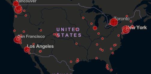 全米に広がる新型コロナウイルス感染