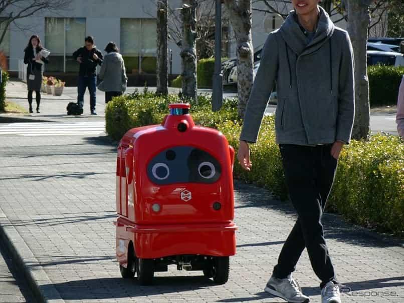 宅配ロボットサービスを大学構内で実証実験